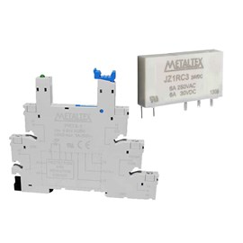 Relé de Interface PRZ-1R- 24 Conjunto RELE JZ1RC3+PRT8-1 24VAC/VDC 6A Metaltex