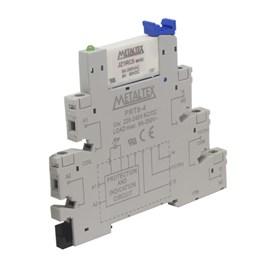 Relé de Interface PRZ-1R Conjunto Relé JZ1RC5+PRT8-4 220VAC/VDC 6A Metaltex