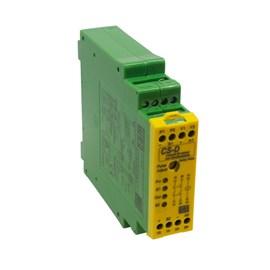 Relé de Segurança CS-D 24VCC 2NA Controle de Simultaneidade Bimanual WEG