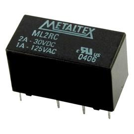 Relé Miniatura 24VCC 2A 6ms De Operação E 4ms De Desoperação Metaltex