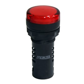 Sinaleiro de LED 220V Vermelho L20-R2-R Metaltex