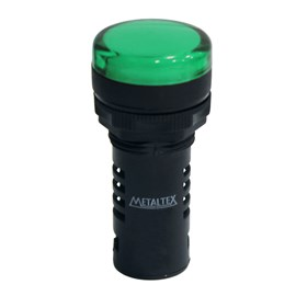 Sinaleiro LED L20-R2-GP Verde Puro 220V Metaltex