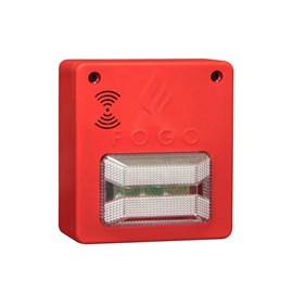 Sinalizador Audiovisual para Alarme de Incêndio Convencional 12/24VDC Segurimax
