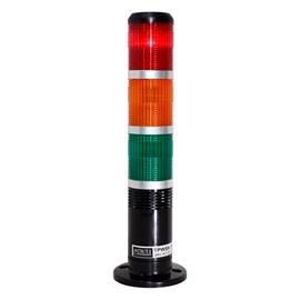 Sinalizador Torre  24VCC Com Buzzer Vermelho/Laranja/Verde Metaltex - TPWS6-73ROG-B