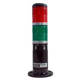 Sinalizador Torre  24VCC Com Buzzer Vermelho-Verde Metaltex - TPWS6-72RG-B