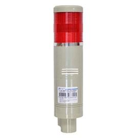 Sinalizador Torre 24VCC Com Haste Vermelho Luz Intermitente JNG