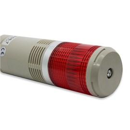 Sinalizador Torre 24VCC TPSS6-71R 60MM Luz Pulsante/Contínuo/Buzzer Metaltex