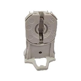 Soquete Fluorescente G13 T8-T12 Termoplástico com Fixação Automatica Cinza LUCCHI