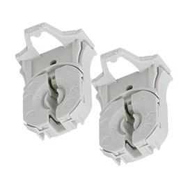 Soquete G13 Termoplástico com Fixação Automática Cinza Lucchi