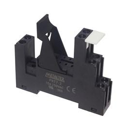 Soquete PRT7-2-2B para Relé Miniatura JX2 2REV. para Trilho Din 8 Pinos Metaltex