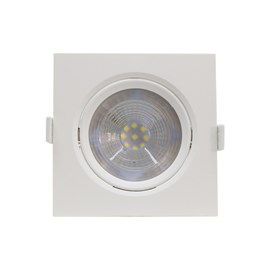 Spot de Embutir LED 10W Luz Branca Bivolt Quadrado Startec