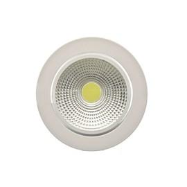 Spot de Embutir LED 12W Luz Branca 127V Redondo Bronzearte