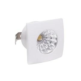 Spot de Embutir LED 1W Luz Amarela Bivolt Branco Quadrado LedArt