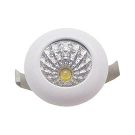 Spot de Embutir LED 1W Luz Amarela Bivolt Branco Redondo LEDart