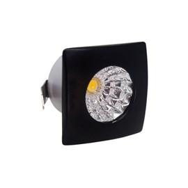Spot de Embutir LED 1W Luz Amarela Bivolt Preto Quadrado LedArt