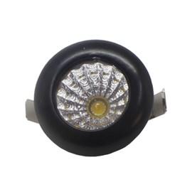 Spot de Embutir LED 1W Luz Amarela Bivolt Preto Redondo LEDart