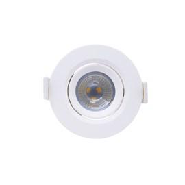 Spot de Embutir LED 3W Luz Amarela Bivolt Redondo Empalux