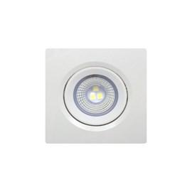 Spot de Embutir LED 3W Luz Branca Bivolt Quadrado Bronzearte