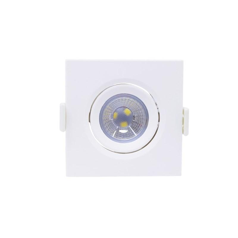 Spot de Embutir LED 3W Luz Branco Frio Bivolt Quadrado Empalux