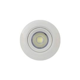 Spot de Embutir LED 3W Luz Branco Frio Bivolt Redondo Branco Bronzearte