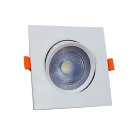 Spot de Embutir LED 3W Luz Branco Quente Bivolt Quadrado Branco Bronzearte