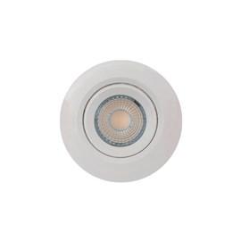 Spot de Embutir LED 3W Luz Branco Quente Bivolt Redondo Branco Bronzearte