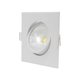 Spot de Embutir LED 5W Luz Branca Quadrado Luminatti