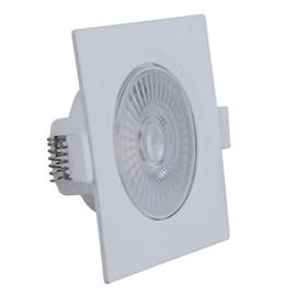 Spot de Embutir LED 5W Luz Branco Neutro Bivolt Quadrado Branco Startec