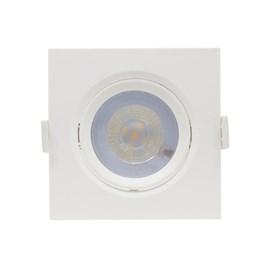 Spot de Embutir LED 5W Luz Branco Quente Bivolt Quadrado Branco Startec