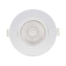 Spot de Embutir LED 5W Luz Branco Quente Bivolt Redondo Branco Startec