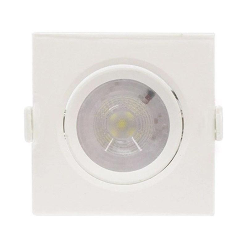 Spot de Embutir LED 6W Luz Branco Frio Bivolt Quadrado Branco Empalux