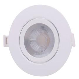 Spot de Embutir LED 6W Luz Branco Frio Bivolt Redondo Branco Empalux