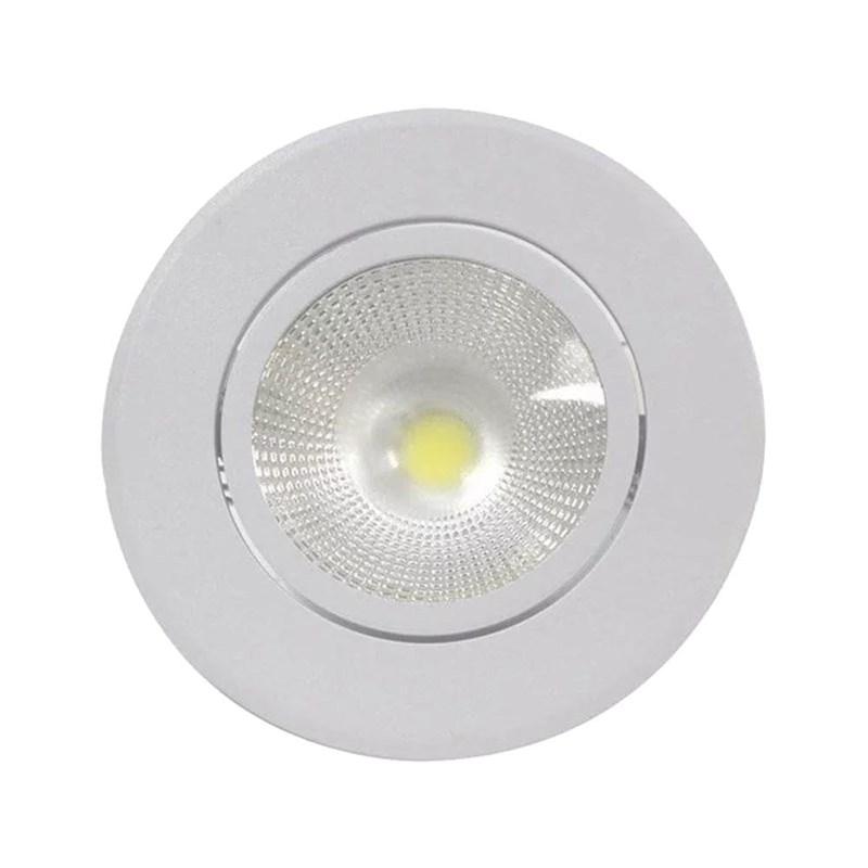 Spot de Embutir LED 6W Luz Branco Quente Bivolt Redondo Branco Empalux