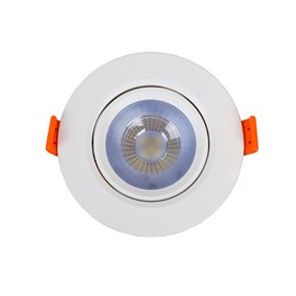 Spot de Embutir LED 7W Luz Branca Bivolt Redondo Bronzearte