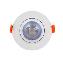 Spot de Embutir LED 7W Luz Branco Frio Bivolt Redondo Branco Bronzearte