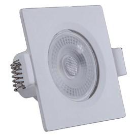 Spot de Embutir LED 7W Luz Branco Neutra Bivolt Quadrado Branco Startec