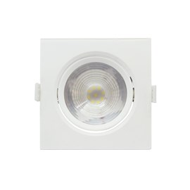 Spot de Embutir LED Grande 7W Luz Branca Bivolt Quadrado Empalux