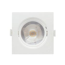 Spot de Embutir LED Grande 7W Luz Branco Quente Bivolt Quadrado Branco Empalux