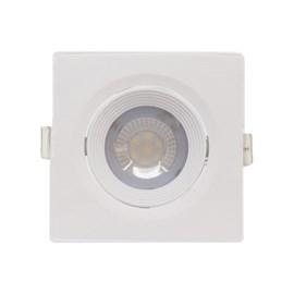 Spot de Embutir LED Pequeno 7W Luz Branco Quente Bivolt Quadrado Branco Empalux