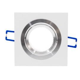 Spot de Embutir Quadrado Quad Dicróica Alumínio Branco iNovelti
