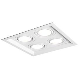 Spot de Embutir Quadrado Recuado 4 Lâmpadas Dicróica Branco NewLine