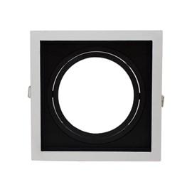 Spot de Embutir Quadrado Recuado AR 111 Preto e Branco Save Energy