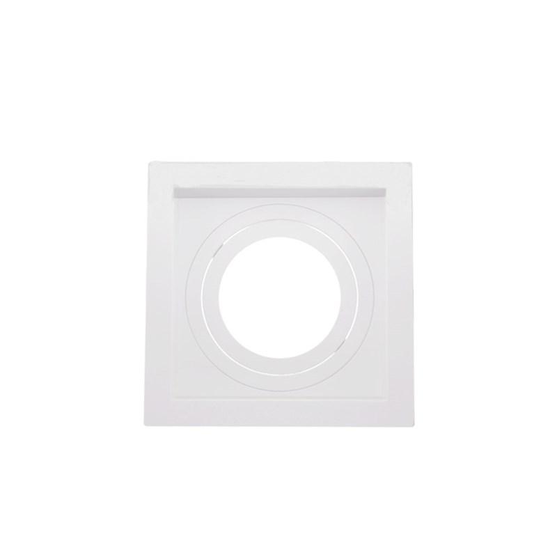 Spot de Embutir Quadrado Recuado AR 70 Branco Save Energy