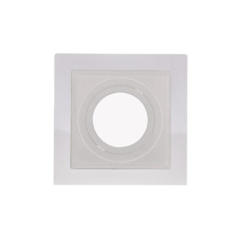 Spot de Embutir Quadrado Recuado Dicróica Branco Save Energy