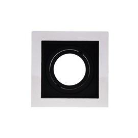 Spot de Embutir Quadrado Recuado Dicróica Preto e Branco Save Energy