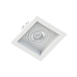 Spot de Embutir Quadrado Recuado Mini Dicróica Branco Save Energy