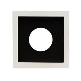 Spot de Embutir Quadrado Recuado PAR 20 Preto e Branco Save Energy