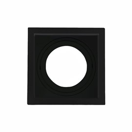 Spot de Embutir Quadrado Recuado PAR 30 Preto e Branco Save Energy