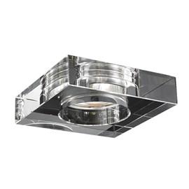 Spot de Embutir Quadrado SE-008 10cm com Cristal Translucido Cromado Mais Luz