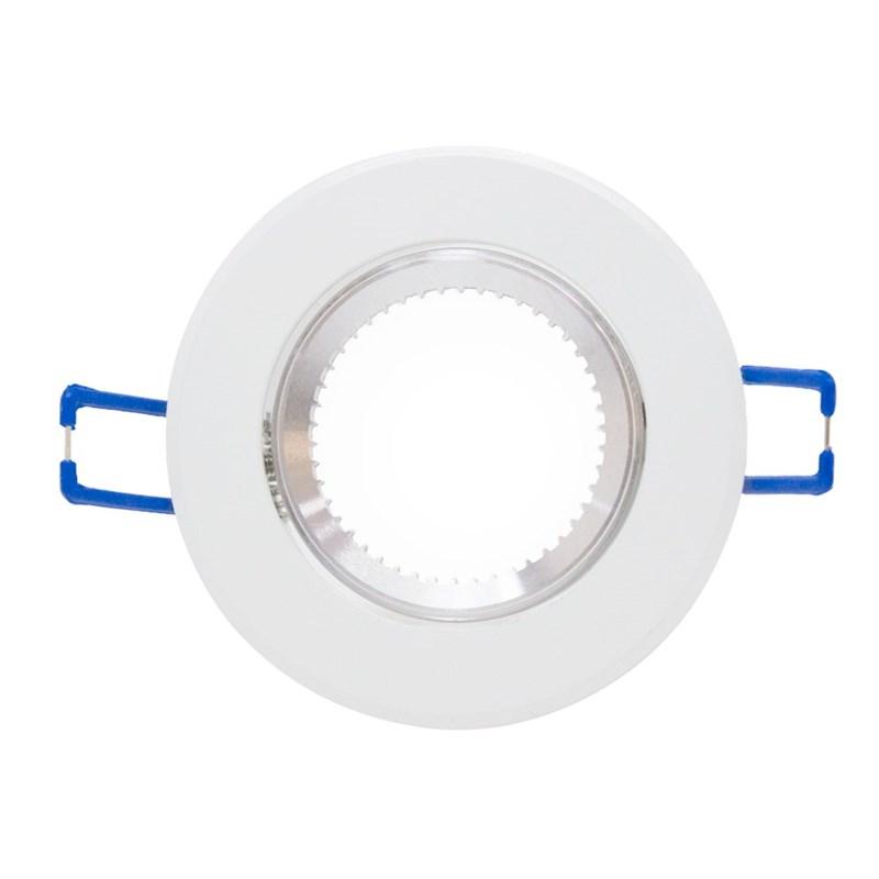 Spot de Embutir Redondo Elit Dicróica Alumínio Branco iNovelti